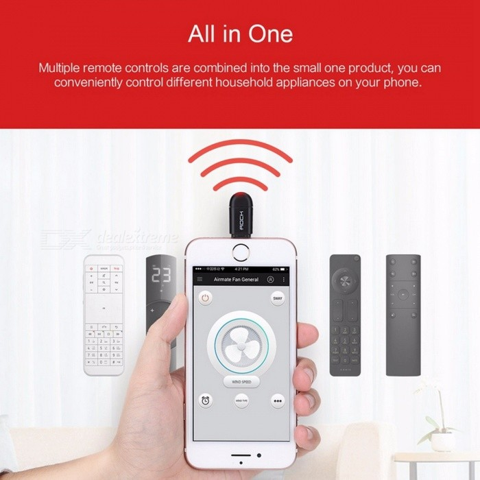 ... Rock Portable Smart Remote Control for TV Air Conditioner DVD Intelligent Remote Controller for IPHONE IOS