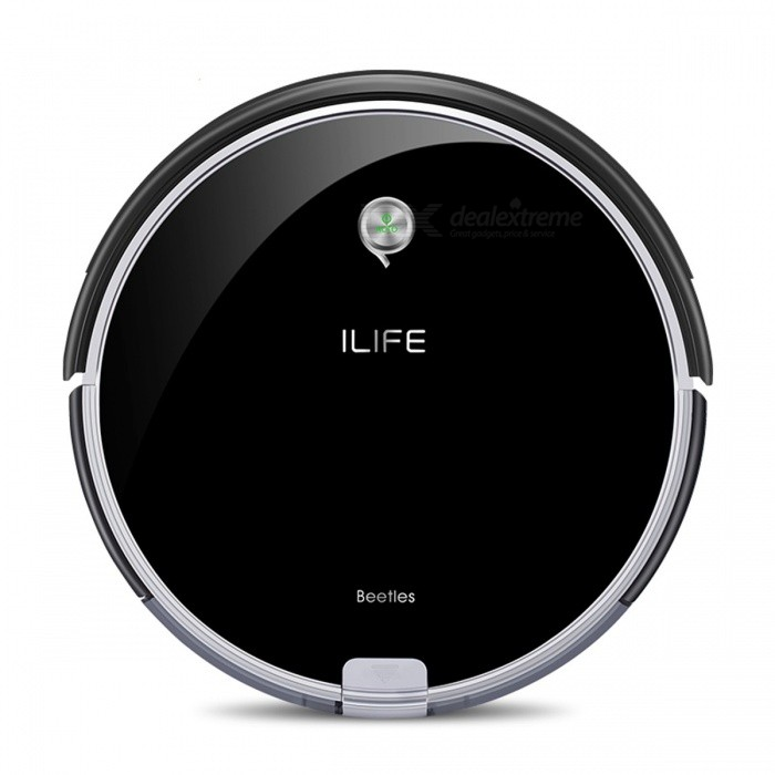 ILIFE A6 Robotic Vacuum Cleaner Smart Stylish Cleaner with LED Breathing Indicator Light for Home Cleaning - EUModelA6ColorBlackPower AdapterEUPacking ListProduct<br>