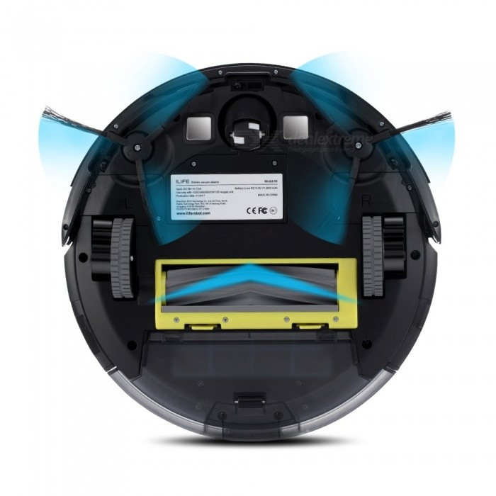 ILIFE A6 Robotic Vacuum Cleaner Smart Stylish Cleaner with LED Breathing Indicator Light for Home Cleaning