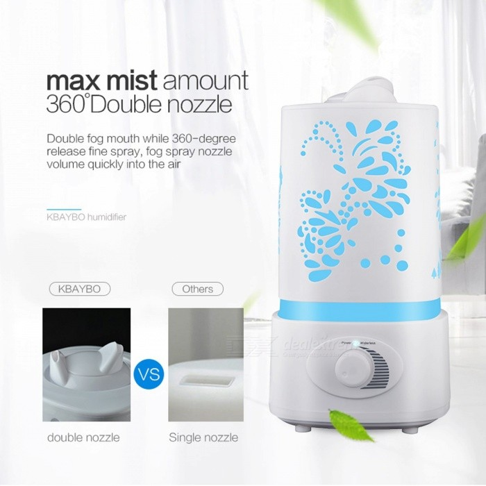 Carved Essential Oil Diffuser Mist Maker, Air Humidifier Aroma Diffuser w/ 7-Color LED Light for Home Office Baby Room Bedroom