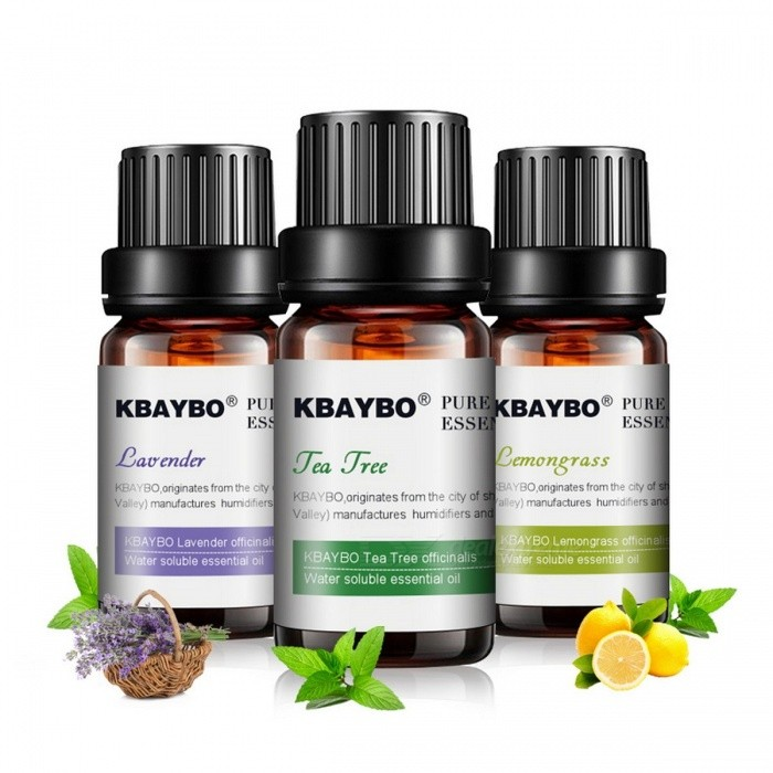 Water-soluble Oil for Aromatherapy Humidifier, Essential Oil for Diffuser, 3 Kinds Fragrance of Lavender, Tea Tree, Lemongrass