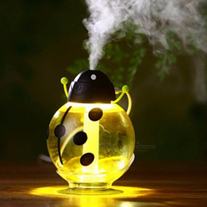 Beetle 260ML USB Air Humidifier Aroma Aromatherapy Essential Oil Diffuser, Mini Portable Mist Maker w/ LED Night