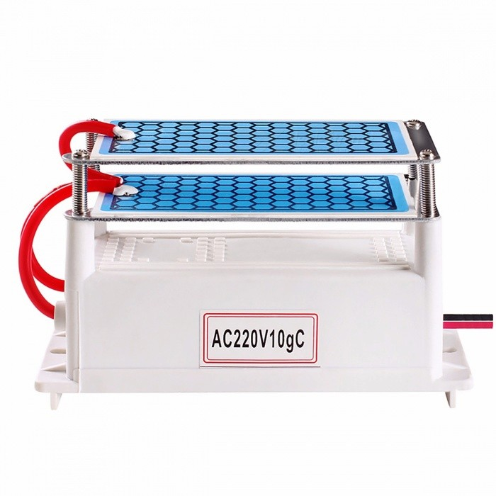 ATWFS Portable Ceramic Ozone Generator 10g Double Integrated Long Life Ceramic Plate Ozonizer Air Water Air Purifier 220V/110V