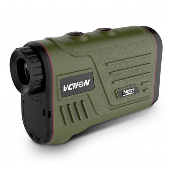 Vchon 600m-1200m Multifunction 6x Laser Range Finder, Telescope Angle Hunting Distance Golf Rangefinder 1000AOther Measuring &amp; Analysing Instruments<br>Description<br><br><br><br><br>Brand Name: vchon<br><br><br>Power Type: Rechargeable<br><br><br><br><br><br><br><br><br><br><br><br>NOTICE:<br><br><br>S:distance measure,speed measure<br><br><br>A: distance measure,angle measure, speed measure,height measure.<br><br><br>G:pin lock<br><br><br>AG:slope function, golf function<br><br><br>Model:600S,600A, 600G,600AG,1000A,1200A.<br><br><br>&amp;nbsp;<br><br><br>This<br> multi-functional range finder is a perfect combination of laser range <br>finder and telescope. It can be widely used in hunting, archery, outdoor<br> adventure, construction survey, etc.<br><br>Features:<br>This range finder is a opto-electronic device combining laser range finder and telescope in one.<br>The meter can measure the distance of a stationary or slow moving object within measuring range clearly.<br>Only<br> the model 900ma and 1500ma have the function of height and side angle <br>measurement function; and you can choose normal mode or golf mode.<br>High accuracy, short measuring time, low power consumption.<br>The meter has a very low transmission rate, harmless to human eyes.<br>Widely used in hunting, archery, outdoor adventure, golf, construction survey, etc.<br>Compact, lightweight, easy to operate.<br><br>Specifications:<br>Type: 600m / 900m / 1200m(optional)<br>Measuring Range: 5-600m / 5-1000m / 5-1200m&amp;nbsp;<br>Measuring Accuracy: ±1m<br>Measuring Time: 0.5-1s<br>Measuring Unit: m, Yd<br>Angle Range: -60°~60°<br>Angle Measurement Error: ±1°<br>Field of View: 7°<br>Magnification: 6X<br>Lens Aperture: 16mm<br>Objective Lens Aperture: 25mm<br>Exit Pupil Diameter: 3.8mm<br>Diopter Adjustment: ±3°<br>Focusing Method: Eyepiece Focusing<br>Vision Safety: FDA Class1<br>Laser Wavelength: 905nm<br>Dust and Water Resistance: IP 54<br>Power Supply: 1 * CR2 3V Batteries(recharge)<br>Item Size: 11 * 7.5 * 4.5cm / 4.3 * 2.9 * 1.8in<br>Item Weight: 174g / 6.15oz<br>Package Size: 15 * 11 * 6cm / 5.9 * 4.3 * 2.4in<br>Package Weight: 350g / 12.3oz<br><br>Package List:<br>1 * Range Finder<br>1 * Bag<br>1 * Cleaner<br>1 * User Manual<br>