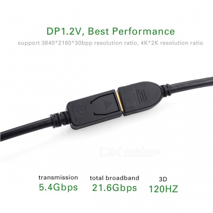 ... Ugreen 28AWG Displayport DP Extension Cable, Male to Female Display Port 1.2 HD 4K*