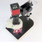Microscope HD 13.0MP HDMI VGA Industrial Microscope Camera + 130X C Mount Lens + 56 LED Ring Light + Stand Holder colorful