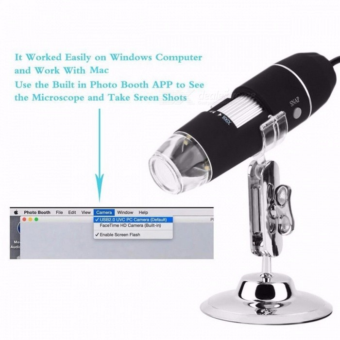 Portable USB Digital Microscope Camera Magnification Endoscope OTG 500X 800X 1000X with Stand for Samsung Android Mobile Windows