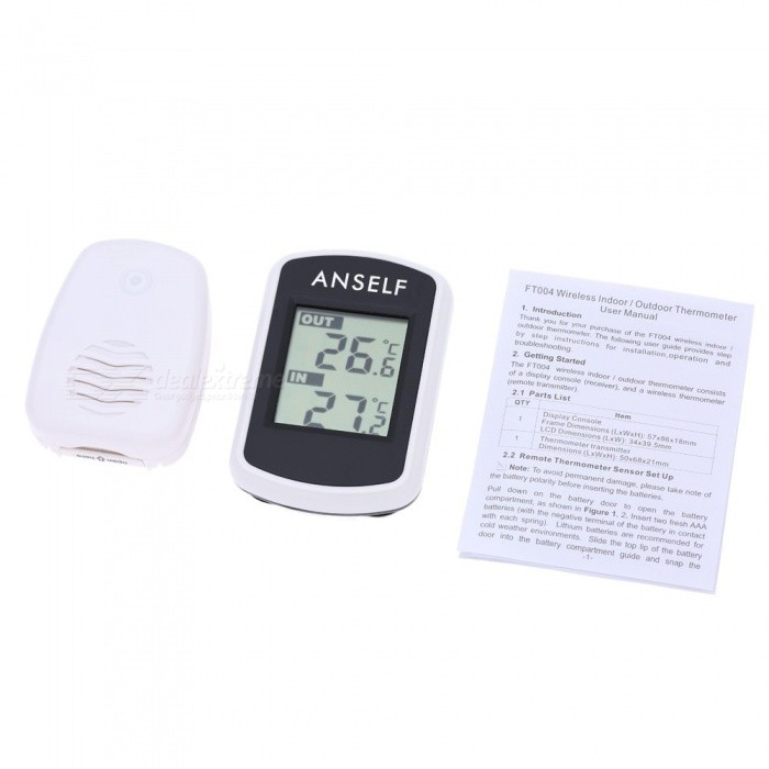 Indoor Outdoor Digital LCD Wireless Thermometer Temperature Instruments Electronic Temperature Gauge Weather Station Tester