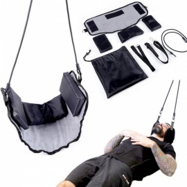 Pain Relief Massager Traction Device Neck Hammock Pressure Tension Headaches Cervical Posture Alignment Support Hammock for Neck Black