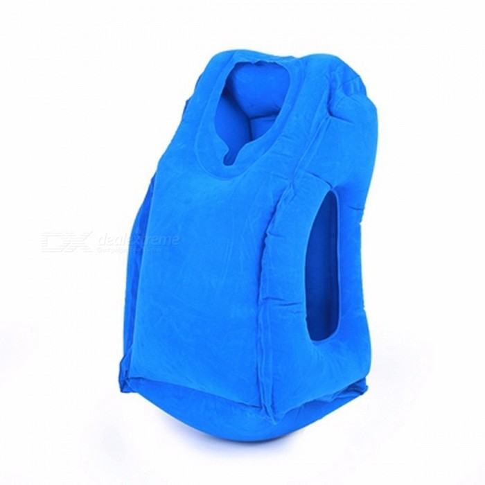 50*35cm Inflatable Travel Pillow, Airplane Neck Chin Head Support, Innovative Travel Sleeping Pillow Train Cushion