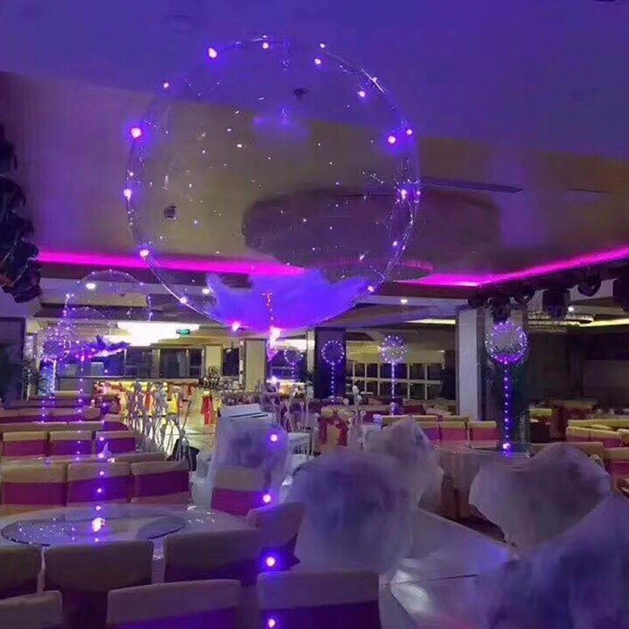 3m led air balloon string lights luminous led round for Balloon string decorations