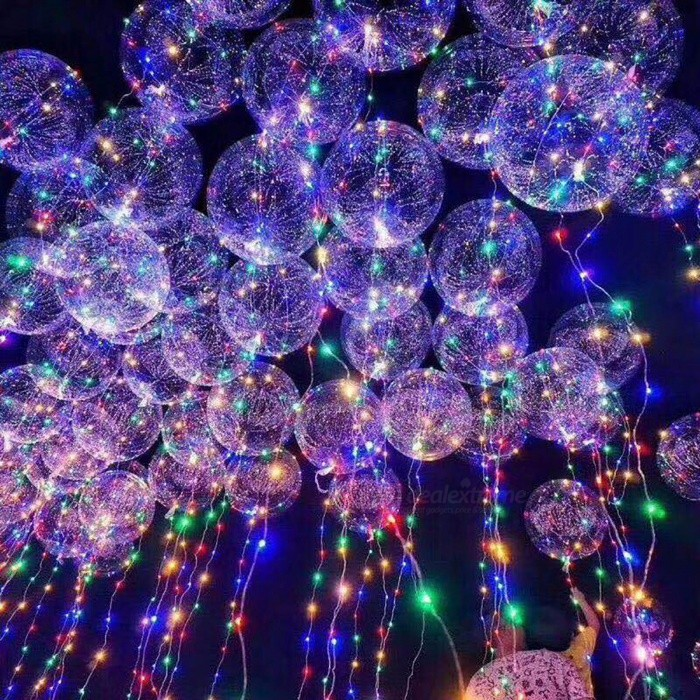 3m led air balloon string lights luminous led round bubble helium balloons for birthday party