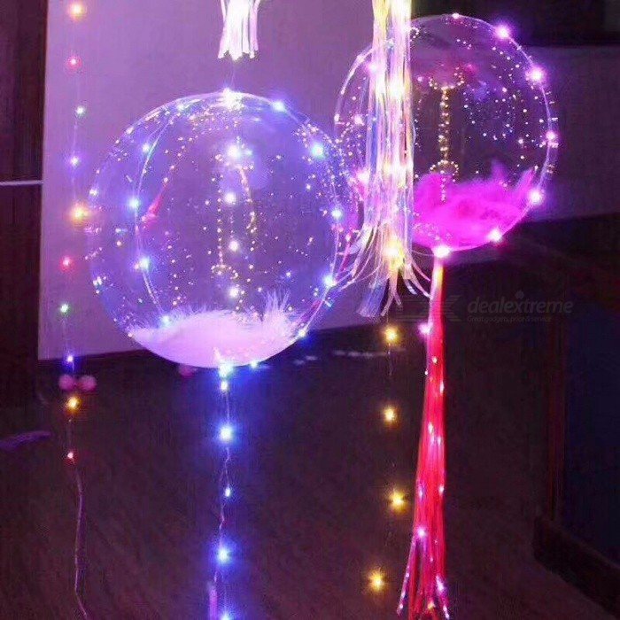 3m LED Air Balloon String Lights, Luminous LED Round Bubble Helium Balloons for Birthday Party