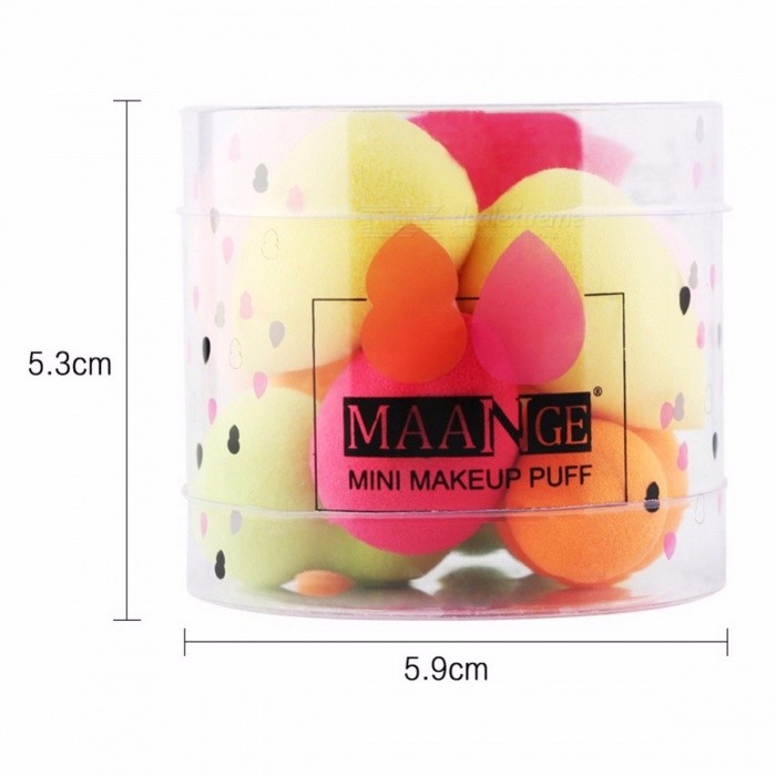 Cute Mini Power Foundation Makeup Cosmetic Sponge Puff Bigger in Water Facial Flawless Blender Beauty Tools with Box - 10PCS
