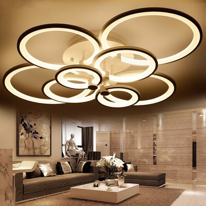 ... Ring Shape White Finished Chandeliers LED Circle Modern Ceiling Hanging L& Light for Living Room ... & Ring Shape White Finished Chandeliers LED Circle Modern Ceiling ...