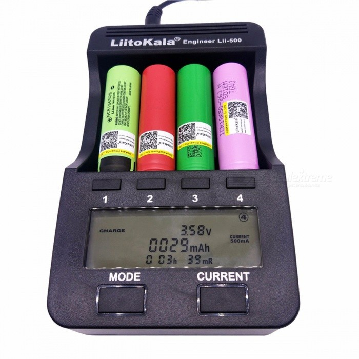 LiitoKala Lii-500 Portable 3.7V 1.2V 18650 26650 16340 14500 10440 18500 Battery Charger with LCD Display