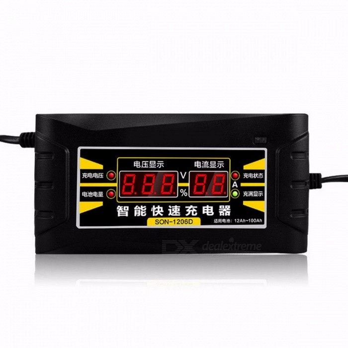 Choifoo 12V 6A Electric Automatic Pulse Repair Type Smart Fast Car Motorcycle Battery Charger with LED Display