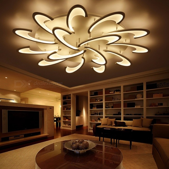 Lican Modern Led Ceiling Chandelier Light White Black Ac85 265v Chandeliers Fixtures For Living Room