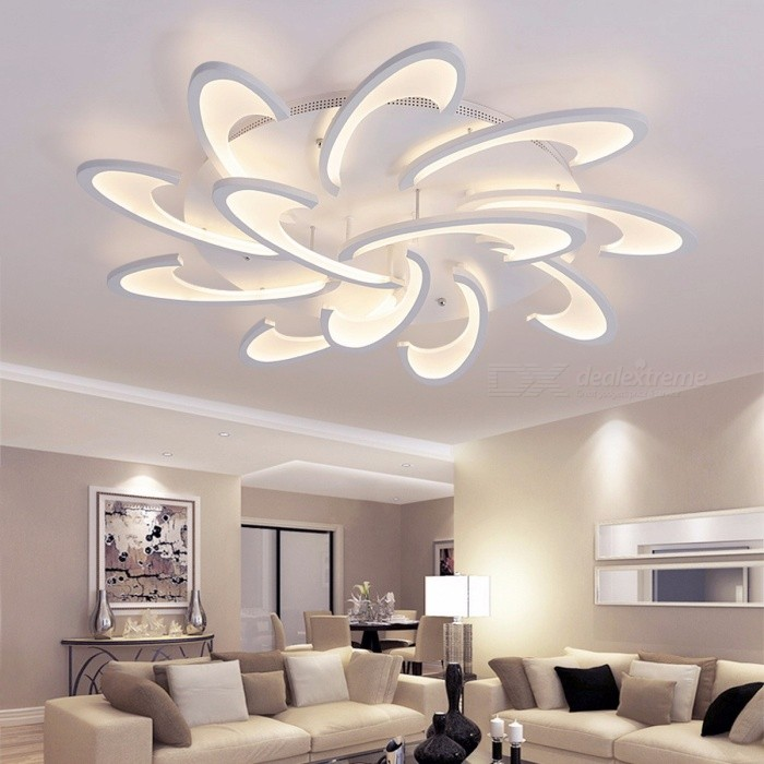 Lican modern led ceiling chandelier light white black ac85 265v lican modern led ceiling chandelier light white black ac85 265v chandeliers fixtures for living room mozeypictures