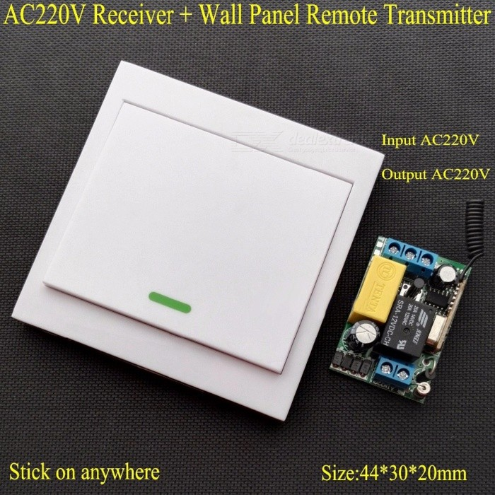 Ac 220v receiver wall panel remote transmitter wireless remote ac 220v receiver wall panel remote transmitter wireless remote control switch hall bedroom ceiling lights wall lamps wireless tx white mozeypictures Gallery