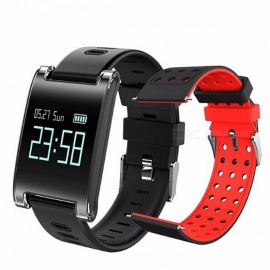 Makibes DM68 PLUS Smart Wrist Watch Blood Pressure Heart Rate Monitor Bluetooth Fitness Bracelet Call Reminder Activity Tracker add red strap