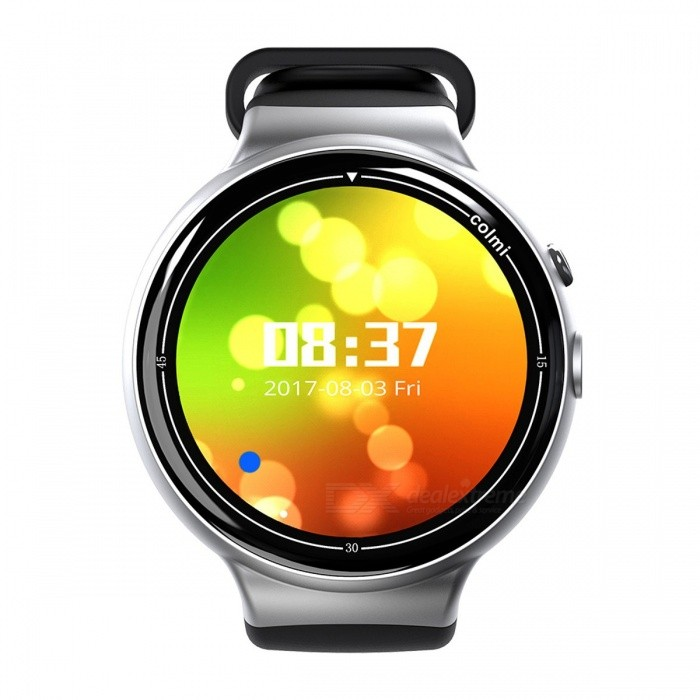 Colmi i2 Smartwatch Android 5.1 OS 2MP WIFI 3G GPS Heart Rate Monitor Bluetooth 4.0 MTK6580 Quad Core 2GB + 16GB Smart Watch SilverSmart Watches<br>Description<br><br><br><br><br>Function: Permanent Calendar,Chronograph,Answer Call,Week,Remote Control,GMT Two Places,Month,Message Reminder,Heart Rate Tracker,Calendar,Dial Call,Alarm Clock,Push Message,Passometer,24 hour instruction,World Time,Fitness Tracker,Other<br><br><br>APP Download Available: Yes<br><br><br><br><br>Band Detachable: No<br><br><br>Language: French,Japanese,Italian,Russian,Hebrew,Turkish,German,Spanish,Polish,Portuguese,English,Korean,Other<br><br><br><br><br>Battery Capacity: 300-450mAh<br><br><br>Style: Fashion<br><br><br><br><br>Band Material: Rubber<br><br><br>Mechanism: Yes<br><br><br><br><br>Multiple Dials: Yes<br><br><br>Application Age Group: Adult<br><br><br><br><br>Waterproof Grade: Life Waterproof<br><br><br>Compatibility: All Compatible<br><br><br><br><br>Type: On Wrist<br><br><br>ROM: 16GB<br><br><br><br><br>Battery Detachable: No<br><br><br>RAM: 2GB<br><br><br><br><br>CPU Manufacturer: Mediatek<br><br><br>Brand Name: ColMi<br><br><br><br><br>Movement Type: Electronic<br><br><br>Screen Shape: Round<br><br><br><br><br>Case Material: Alloy<br><br><br>SIM Card Available: Yes<br><br><br><br><br>System: Android OS<br><br><br>Network Mode: 3G<br><br><br><br><br>GPS: Yes<br><br><br>Camera: 2MP<br>