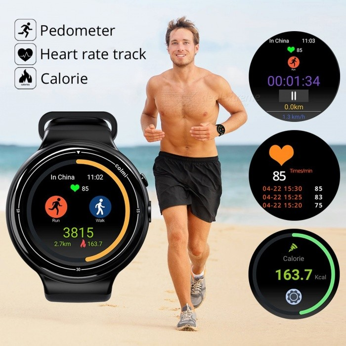 Colmi i2 Smartwatch Android 5.1 OS 2MP WIFI 3G GPS Heart Rate Monitor Bluetooth 4.0 MTK6580 Quad Core 2GB + 16GB Smart Watch