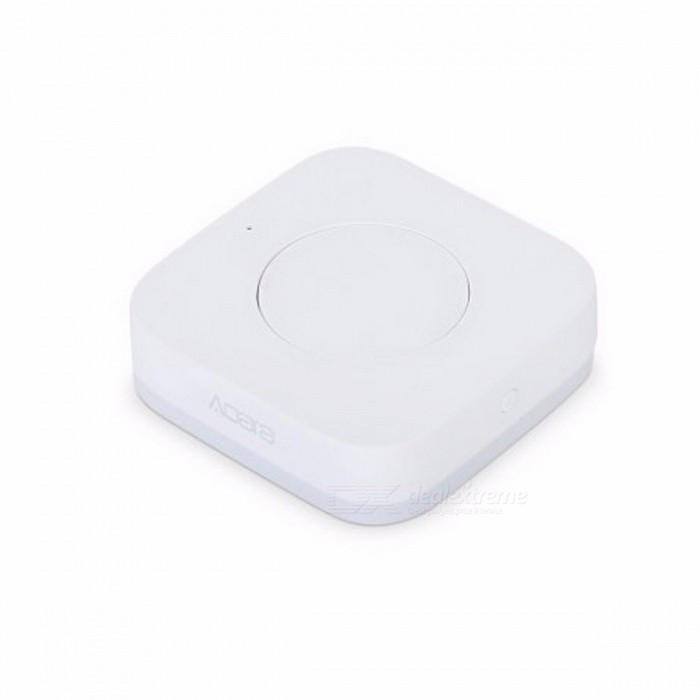 Xiaomi Aqara Smart Wireless Switch Key Built In Gyro Function, ZigBee WiFi Works With Xiaomi Smart Home Mijia Mi Home APP WhiteHome Smart Devices<br>Description<br><br><br><br><br>Features: Remote Control,Magnetic,Flashing<br><br><br>Brand Name: Aqara<br><br><br><br><br>Control Channels: 2 Channels<br><br><br>State of Assembly: Ready-to-Go<br><br><br><br><br>Scale: 1:12<br><br><br><br><br><br><br><br><br><br><br><br><br>The<br> Aqara smart wireless switch is a simple and portable one button device.<br> However, it can control many Xiaomi smart devices. Featuring ZigBee <br>wireless connection, this smart switch can be used as doorbell, toggle <br>button, remote controller, etc. via the Mi Home APP. It is very <br>convenient for you to use. What is more, The adhesive on its backside <br>and the small size enable it to put or stick on anywhere.&amp;nbsp;&amp;nbsp;<br><br><br><br><br>Main Features:&amp;nbsp;<br>•&amp;nbsp;&amp;nbsp;One key to control&amp;nbsp;<br>•&amp;nbsp;&amp;nbsp;Before sleeping:&amp;nbsp;&amp;nbsp;one button to turn off all the appliances&amp;nbsp;<br>•&amp;nbsp;&amp;nbsp;Waking up at night:&amp;nbsp;&amp;nbsp;one button to turn on the nightlight&amp;nbsp;<br>•&amp;nbsp;&amp;nbsp;When going out:&amp;nbsp;&amp;nbsp;one key to control household appliances&amp;nbsp;<br>• Can be used as emergency call button&amp;nbsp;<br>• Defending and withdrawing defense&amp;nbsp;<br>• Working temperature: -10 - 60 Deg.C&amp;nbsp;<br>• Working humidity: 0 - 95pct RH&amp;nbsp;<br>• Built-in 1pc CR2032 cell battery&amp;nbsp;<br>• Please download APP Mi Home from Apple Store or Google Play&amp;nbsp;<br>• Portable, small size, easy to install&amp;nbsp;<br><br>Please Note:&amp;nbsp;&amp;nbsp;&amp;nbsp;<br>This item must match the xiaomi multifunctional gateway to use.<br>