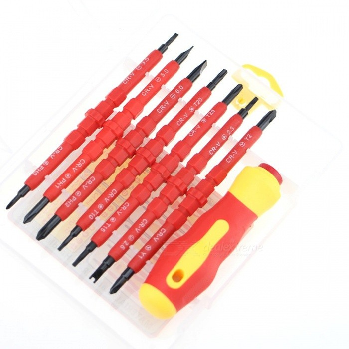 Multi-Purpose Portable 14-in-1 Magnetic Screwdriver Set Screw Driver for Family Commonly Used Tools 2028