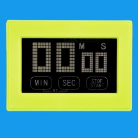 PS-392 Portable Mini Lightweight Touch Screen Digital LCD Cooking Clock, Sports Count Down Kitchen Timer  Green