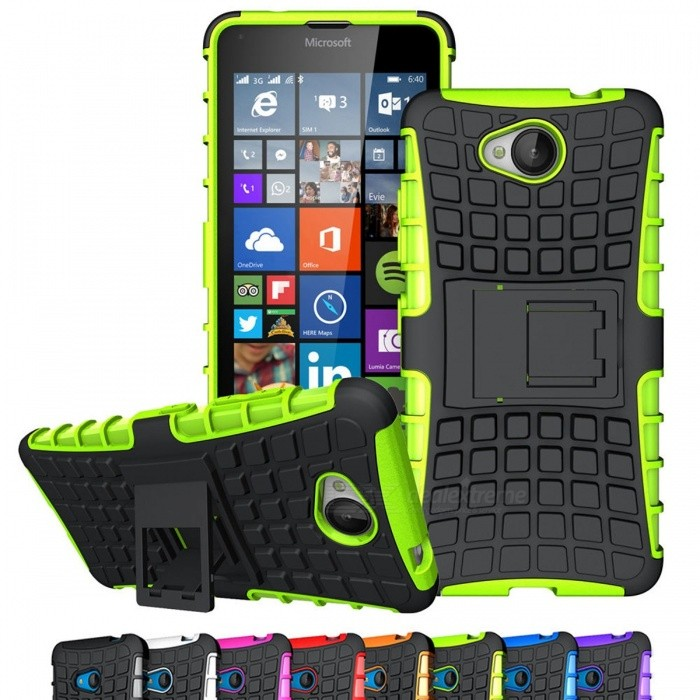 AIGLAT Protective Case Cover Hard PC + TPU Shockproof w/ Stand Function for Microsoft Nokia Lumia 640 950 XL 730 735 640XL 950XL