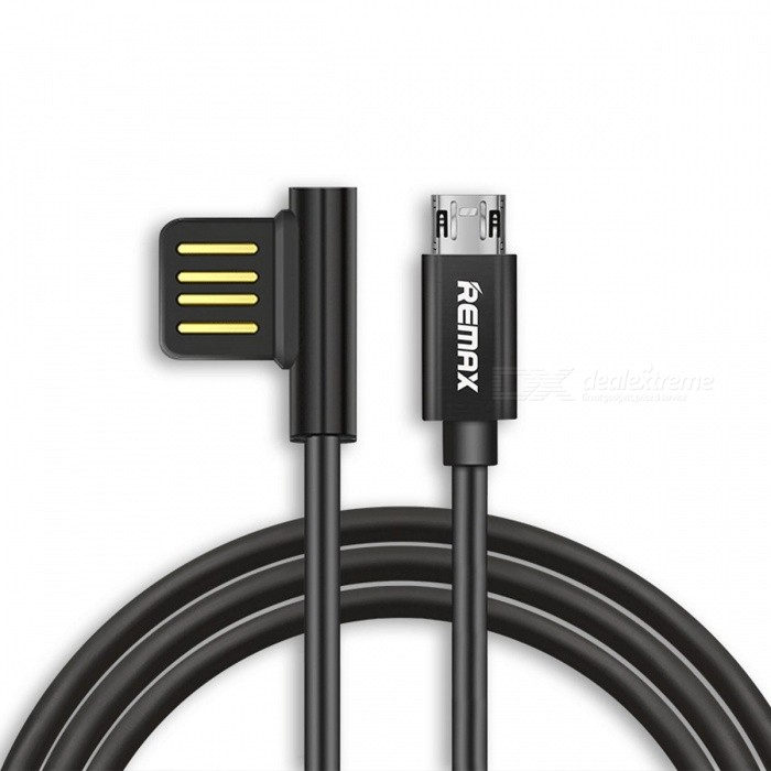 REMAX Durable Dual Sided Micro USB Data Cable, Portable 90 Degree Plug Charger Charging Cable for Samsung/Xiaomi/Android 1m/GoldCables<br>Description<br><br><br><br><br>Compatible Brand: SONY,LG,Blackberry,Toshiba,Panasonic,Samsung,HTC,Motorola<br><br><br>Type: Micro USB<br><br><br><br><br>Has Retail Package: No<br><br><br>Brand Name: Remax<br><br><br><br><br><br><br><br><br><br><br><br>Feature:<br><br><br><br>High-quality zinc alloy material (USB),&amp;nbsp;Plating Process, strong antioxidant, durable, high quality, quality assurance. <br><br><br>Nickel-plated connector&amp;nbsp;/<br> anti-oxidation: nickel-plated connector, the appearance of full of <br>metal texture, durable, Insert and pull out smoothly, long service life. <br><br><br>Acceleration current: 2.1A, 30% speed increase, charging time savings of 50%, but this is not the fast charging cable. <br><br><br>Charge/transfer 2 in 1:&amp;nbsp;set fast charge and data transmission in one, 2.1A current, efficient and safe. <br><br><br>USB --- 90 degree 2 face to plug. <br><br><br>Micro USB Plug which can 2 face to charge into the phone. <br><br><br>All-round, no direction design, really blind plug inserted into the hole <br><br><br>Pure copper wire  <br><br><br><br>Specification:<br><br><br>NO. RC-054M<br><br><br>Charge &amp;amp; Data <br><br><br>Output:2.1A Max<br><br><br>Material: TPE<br><br><br>Line core: Oxygen-free copper<br><br><br>Length:1M &amp;nbsp;&amp;nbsp;&amp;nbsp;&amp;nbsp;&amp;nbsp;&amp;nbsp;&amp;nbsp;&amp;nbsp;&amp;nbsp;&amp;nbsp;&amp;nbsp;&amp;nbsp;&amp;nbsp;&amp;nbsp;&amp;nbsp;&amp;nbsp;&amp;nbsp;&amp;nbsp;&amp;nbsp;&amp;nbsp;&amp;nbsp;&amp;nbsp;&amp;nbsp;&amp;nbsp;&amp;nbsp;&amp;nbsp;&amp;nbsp;&amp;nbsp;&amp;nbsp;&amp;nbsp;&amp;nbsp;&amp;nbsp;&amp;nbsp;&amp;nbsp;&amp;nbsp;&amp;nbsp;&amp;nbsp;&amp;nbsp;&amp;nbsp;&amp;nbsp;&amp;nbsp;&amp;nbsp;&amp;nbsp;&amp;nbsp;&amp;nbsp;&amp;nbsp;&amp;nbsp;&amp;nbsp;&amp;nbsp;&amp;nbsp;&amp;nbsp;&amp;nbsp;&amp;nbsp;&amp;nbsp;&amp;nbsp;&amp;nbsp;&amp;nbsp;&amp