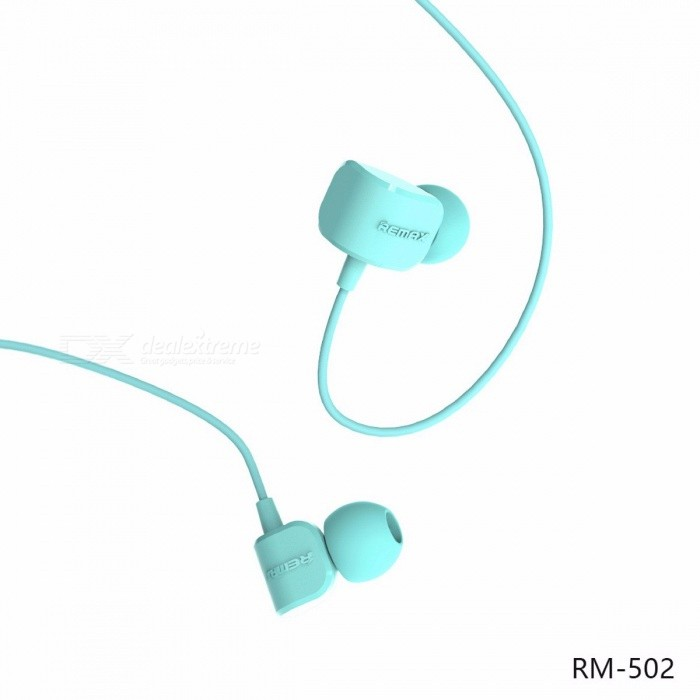 REMAX RM502 Wired Clear Stereo Earphone with HD Microphone, Angle In-ear Noise Isolating Earhuds for MP3 / IPHONE / Xiaomi