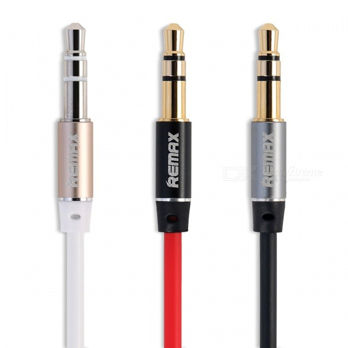 REMAX Durable 3.5mm Jack Aux Cable for Car, Gold Plated Male to Male Audio Cable for Headphone Phone Speaker
