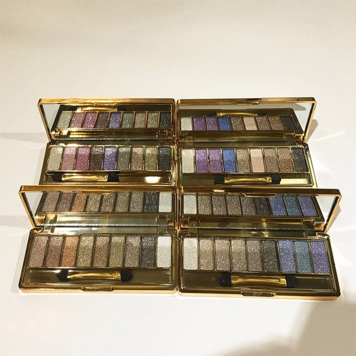 9-Color Diamond Bright Eyeshadow Naked Smoky Palette Makeup Set, Professional Maquillage Cosmetic with Brush