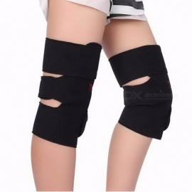 1Pair Comfortable Tourmaline Self Heating Kneepad Magnetic Therapy Knee Support, Heating Belt Knee Massager Brace L