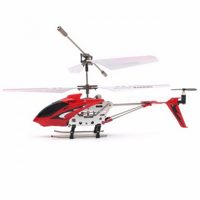 Original Syma S107G Portable Alloy 3CH Remote Control Helicopter Drone with Gyroscope, Best Toy Gift RTF for Kids Red