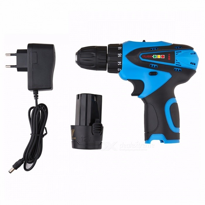 KALAIDUN 12V Mobile Electric Drill Power Tool Screwdriver, Lithium Battery Powered Cordless Mini Drill Hand Tool