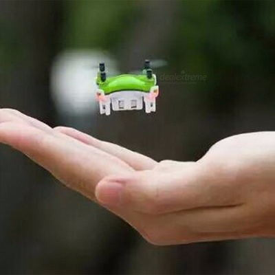 Portable Ultra Mini 2.4G 4CH 6-Axis 3D Roll Remote Control Helicopter Drone Toy with Light for Kids   Green