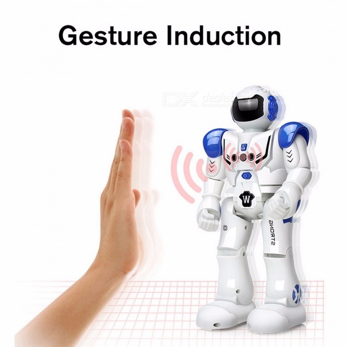 DODOELEPHANT Robot USB Charging Dancing Gesture Action Figure Control RC Robot Toy for Boys Children Kids Birthday Gift Present BlueR/C Robots &amp; Animals<br>Description<br><br><br><br><br>Gender: Unisex<br><br><br>Commodity Attribute: Finished Goods<br><br><br><br><br>Age Range: 8-11 Years,12-15 Years,Grownups<br><br><br>Item Type: Model<br><br><br><br><br>Soldier Accessories: Soldier Finished Product<br><br><br>Condition: In-Stock Items<br><br><br><br><br>Scale: 1/12<br><br><br>Remote Control: Yes<br><br><br><br><br>By Animation Source: China<br><br><br>Brand Name: DODOELEPHANT<br><br><br><br><br>Completion Degree: Finished Goods<br><br><br>Theme: Robots<br><br><br><br><br>Puppets Type: Model<br><br><br>Mfg Series Number: Robot<br><br><br><br><br>Material: Other<br><br><br>Size: Other<br><br><br><br><br>Version Type: Other<br><br><br><br><br><br><br><br><br><br><br><br><br>Note:<br><br><br>There is the rechargeable LI-ion Battery in the robot<br><br><br>The Controller DONT have battery,you need to buy it by yourself.<br>