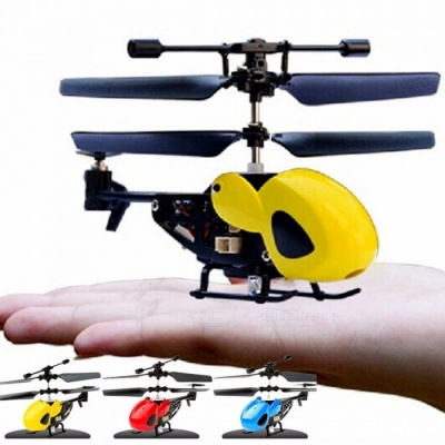 BOHS 2.5 Channel Mini Micro RC Helicopter Fuselage, Portable Remote Radio Control Aircraft Plane Model Toy with Gyroscope Gyro Yellow