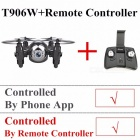 Gteng T906W Portable Mini FPV Drone Quadcopter Helicopter, Selfie Remote Control Toy with HD Camera for Kids  T906W APP