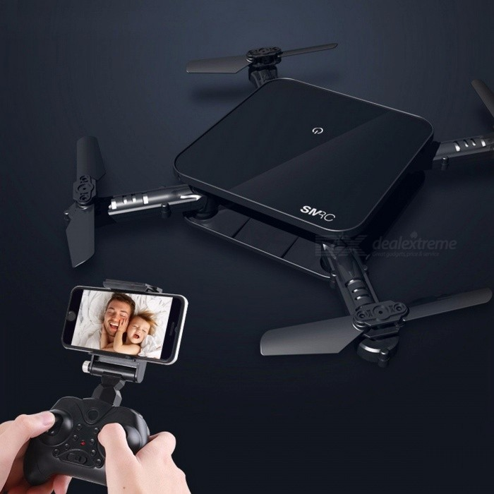 SMRC S1 Portable Mini RC Drone, Pocket-Size Wi-Fi FPV Real Time Folding Helicopter Toy for Boys Gifts