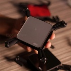 SMRC S1 Portable Mini RC Drone, Pocket-Size Wi-Fi FPV Real Time Folding Helicopter Toy for Boys Gifts Black 0.3MP camera