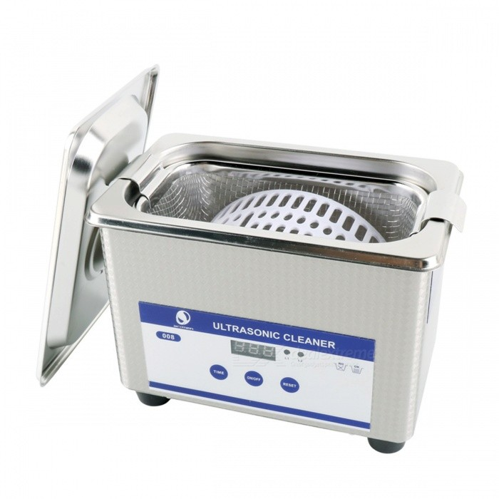 Skymen 800ML Large Capacity Stainless Steel Ultrasonic Cleaner Bath, Digital Ultrasound Wave Cleaning Tank
