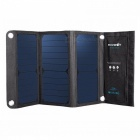 BlitzWolf 20W Portable Solar Power Bank Solar Panel Charger External Battery Universal Powerbank for IPHONE Xiaomi Phones blue