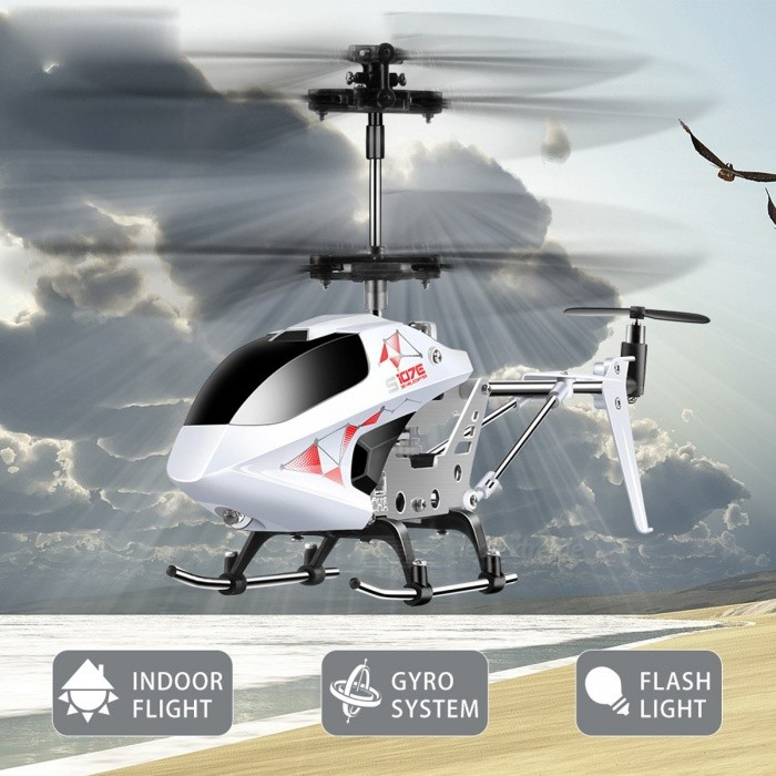 SYMA S107E 3CH 2.4GHz Indoor RC Helicopter, Alloy Strong Anti-shock Remote Control Vertiplane Gift for Baby redR/C Helicopters<br>Description<br><br><br><br><br>Type: Helicopter<br><br><br>Features: Remote Control,Shock Resistant<br><br><br><br><br>Aerial Photography: No<br><br><br>Brand Name: SYMA<br><br><br><br><br>Age Range: 8-11 Years,& 14 years old,& 8 years old,12-15 Years,Grownups<br><br><br>State of Assembly: Ready-to-Go<br><br><br><br><br>Package Includes: USB Cable,Original Box,Operating Instructions,Batteries,Remote Controller<br><br><br>Motor: Brush Motor<br><br><br><br><br>Material: Plastic,Metal<br><br><br>Controller Mode: MODE2<br><br><br><br><br>Power Source: Electric<br><br><br>Remote Control: Yes<br><br><br><br><br>Control Channels: 3 Channels<br><br><br><br><br><br><br><br><br><br><br><br><br>Package List: <br><br><br>&amp;nbsp;<br><br><br>&amp;nbsp;<br><br><br>1 * RC Helicopter <br><br><br>1 * Remote Control <br><br><br>1 * USB Charge Cable <br><br><br>1 * Tail Blade <br><br><br>1 * Screwdriver <br><br><br>1 * User Manual&amp;nbsp;<br>