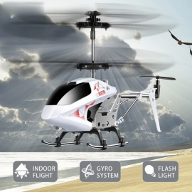 SYMA S107E 3CH 2.4GHz Indoor RC Helicopter, Alloy Strong Anti-shock Remote Control Vertiplane Gift for Baby red