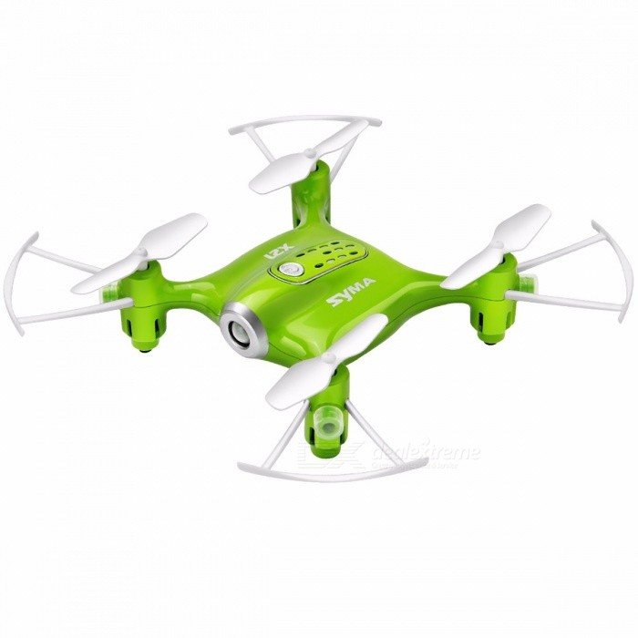 Syma X21 Mini 2.4G 4CH RC Drone Quadcopter Helicopter with Headless Mode, Hover, Fixed Height, without Camera  X21 GreenR/C Airplanes&amp;Quadcopters<br>Description<br><br><br><br><br>Type: Helicopter<br><br><br>Features: Remote Control,Shatter  Resistant<br><br><br><br><br>Aerial Photography: No<br><br><br>Brand Name: SYMA<br><br><br><br><br>Controller Mode: MODE2<br><br><br>State of Assembly: Ready-to-Go<br><br><br><br><br>Motor: Brush Motor<br><br><br>Material: Plastic<br><br><br><br><br>Power Source: Electric<br><br><br>Age Range: & 8 years old<br><br><br><br><br>Remote Control: Yes<br><br><br>Package Includes: Original Box<br><br><br><br><br>Control Channels: 4 Channels<br><br><br><br><br><br><br><br><br><br><br><br><br>Specifications:<br><br><br>Brand name: Syma<br> Model: X21<br> Item name: Pocket Drone<br> Built-in gyro: 6 Axis<br> Channel: 4CH<br> Remote control: 2.4G<br>Control distance: about 110 meters<br><br><br>Battery: 3.7V 380mAh lipo battery (Built-in)<br><br><br>Flight time: approximately 5-7mins<br><br><br>Charging time: about 110mins<br><br><br>Battery for remote controller: 4 * AA&amp;nbsp;batteries&amp;nbsp;(not included)<br><br><br>Item dimension: 13.5 * 13.5 * 3.1cm / 5.4 *5.4* 1.24<br><br><br>&amp;nbsp;<br><br><br>Functions:&amp;nbsp;Hover/One key take off/One key landing/360 degrees flips/Headless mode/Low/High speed mode switch/Left/Right side fly/left/Right mode swift/Throw out to fly/Left/Right hand throttle switch<br><br><br>&amp;nbsp;<br><br><br>&amp;nbsp;<br><br><br>Package List:<br><br><br>1 * Pocket Drone<br> 1 * Remote Control<br>1 * USB Cable<br><br><br>4 *Blades<br><br><br>&amp;nbsp;<br><br><br>Note: Charge it via usb of computer<br>