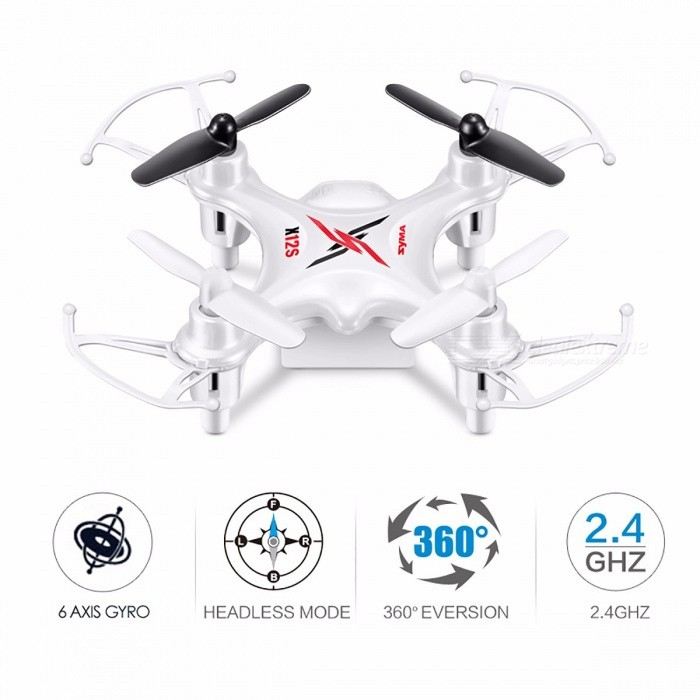 Syma 4CH 6-Axis Gyro X12S Remote Control Helicopter Quadrocopter, Mini Pocket-size Drone Indoor Toy for Kids